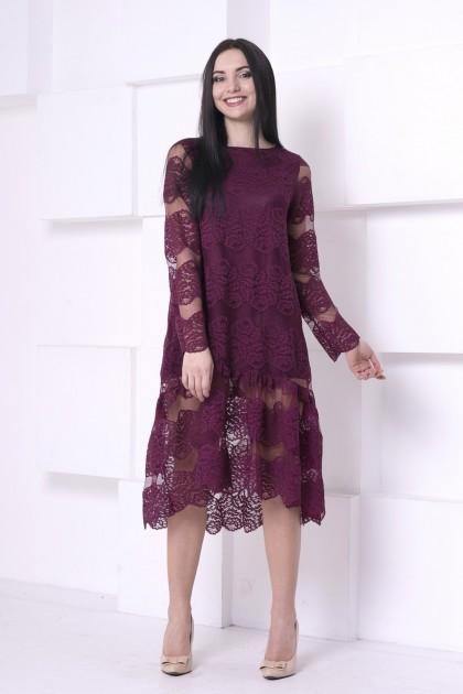 Платье Гипюр длинное