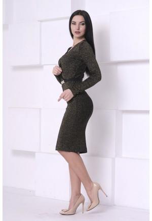 Платье Люрекс с гипюром